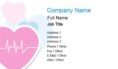 Business card templates healthcare pink heart healthcare colourmoves
