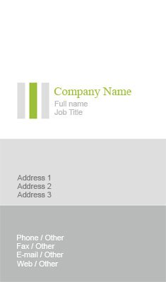 Green And Grey Bars Business Card Template