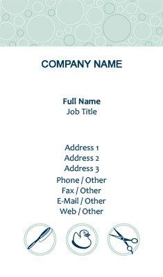 business card templates pet sitting