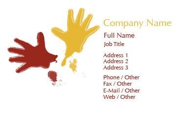 Business card templates paint painters back thumbnail image flashek Images