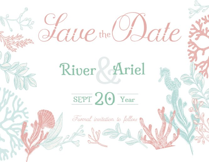 Sea Save the Date
