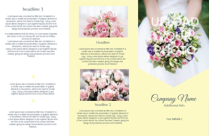 Wedding Brochure Yellow