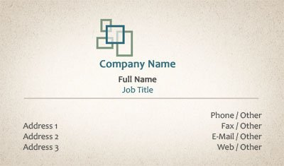 Business card templates insurance beige with green boxes colourmoves