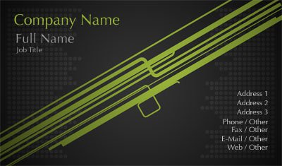 Business card templates dj black and green lines reheart Gallery