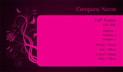 Business card templates clothing black and pink flower cheaphphosting Choice Image