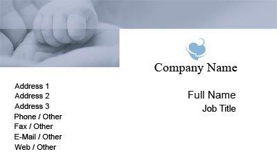Business card templates baby hand in hand pediatrician colourmoves