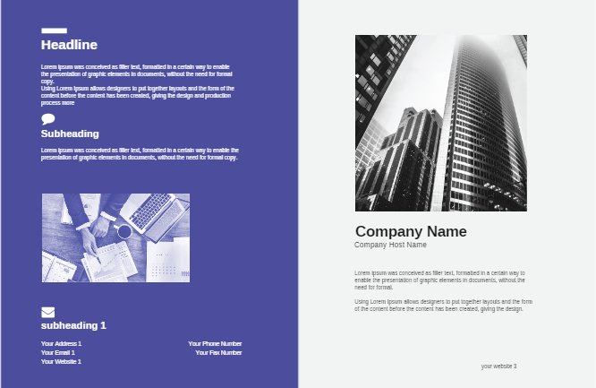 Purple Brochure