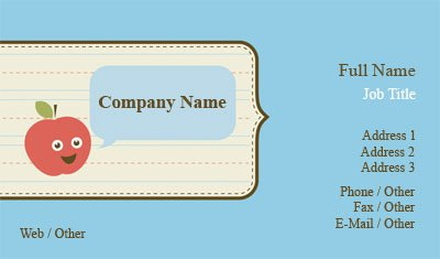 Business Card Templates Babysitting