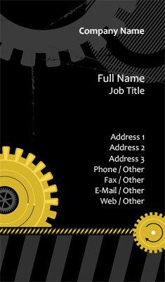 Business card templates mechanic mechanic gears colourmoves