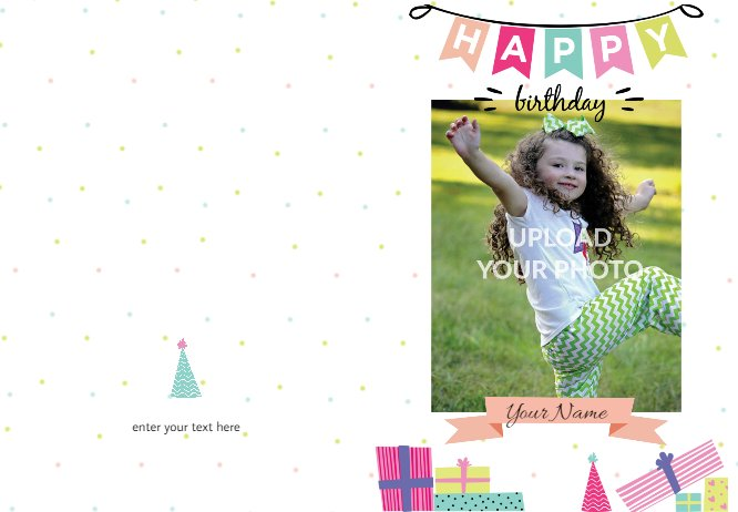 Happy birthday dot card