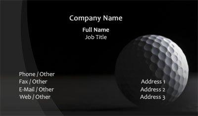 Business card templates golf black and white golf colourmoves