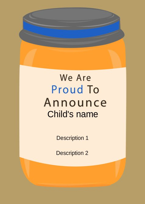 Baby Food Announcement