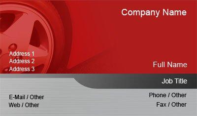 Business card templates transportation red car tire colourmoves