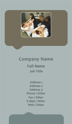 spa massage - Massage Therapy Business Cards