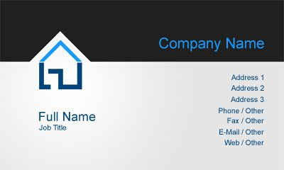 Business card templates cleaning black and grey property management colourmoves