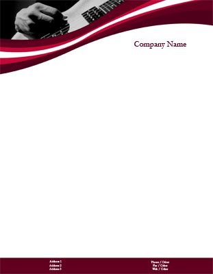 85 x 11 letterhead templates music music performers spiritdancerdesigns Image collections