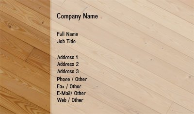 wood flooring - Flooring Business Cards