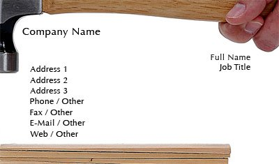 Business card templates construction carpentry hammer colourmoves