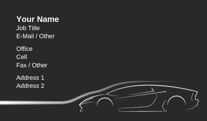 Business card templates transportation speeding outline colourmoves