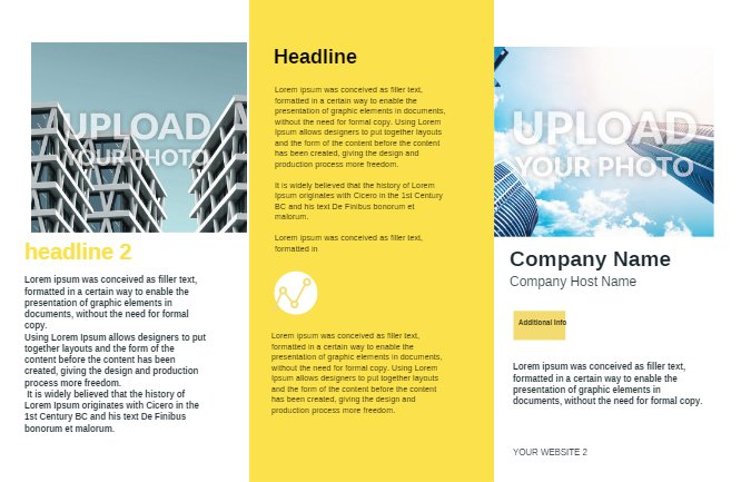 Yellow Construction Brochure