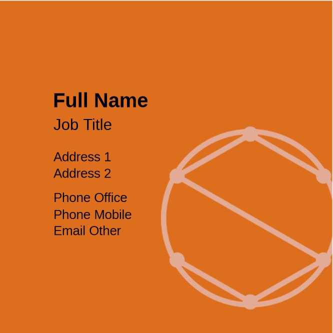 Orange and Gray Geometric Back thumbnail image