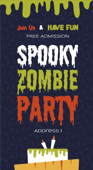 spooky zombie party