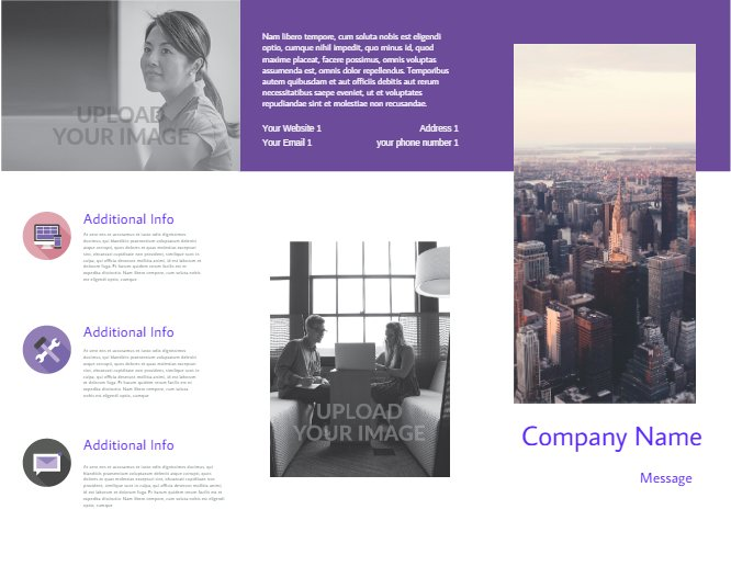 Business Brochure Violet