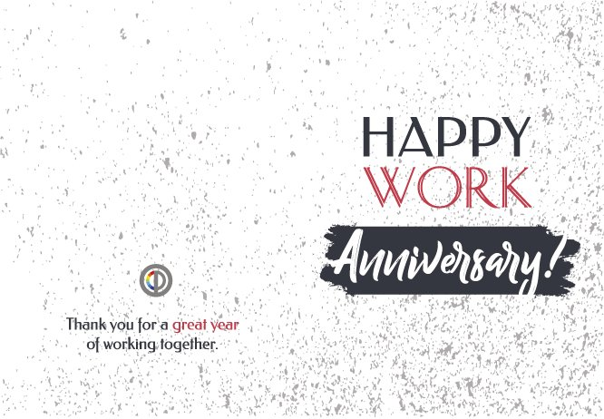 Happy work Anniversary grey big