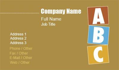 Business Card Templates Teacher - Teacher business card template