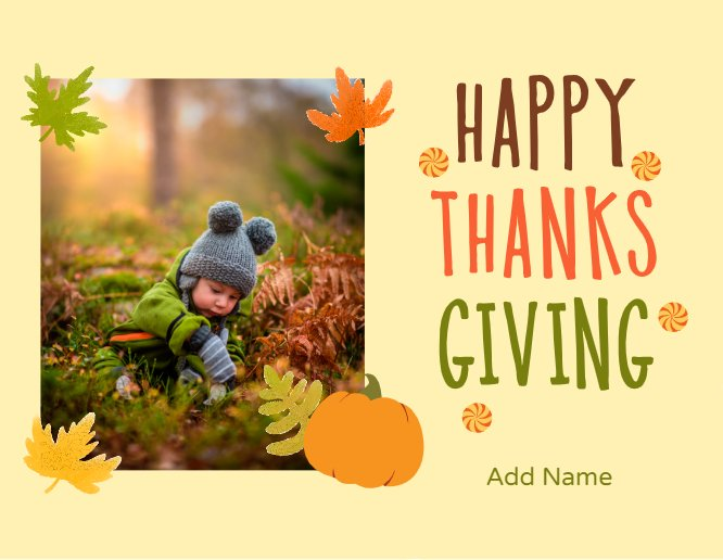 Happy Thanksgiving Cute Postcard