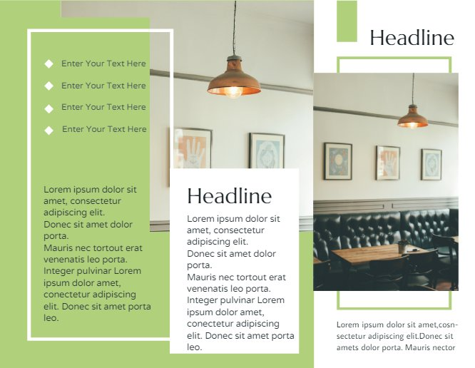 Interior Brochure Green
