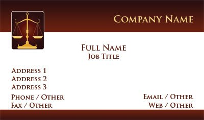 Business Card Templates Legal - Lawyer business card template