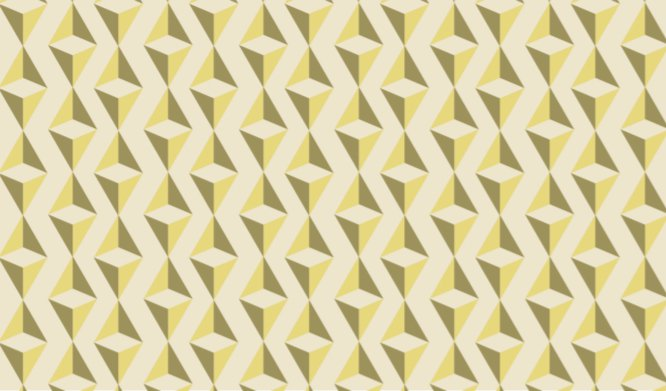 Yellow Triangular Geometric Pattern Back thumbnail image