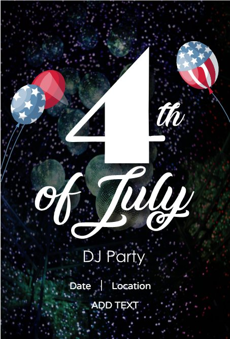 DJ party card