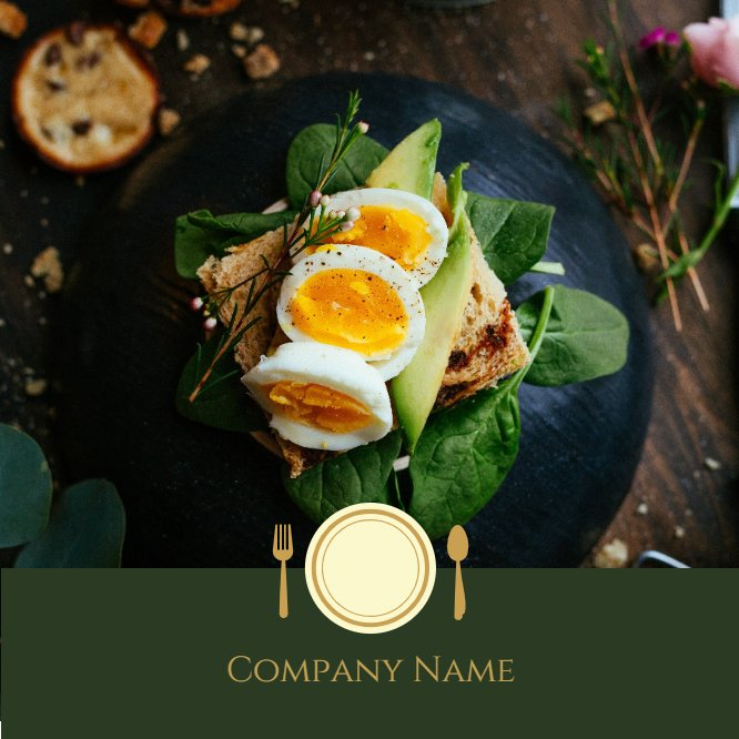 Restaurant Business Card Back thumbnail image