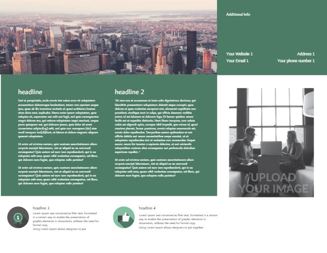 Business Brochure Green Back thumbnail image