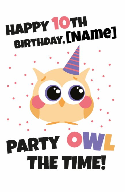 Party Owl the Time Greeting