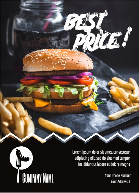 Best Price Burger Poster
