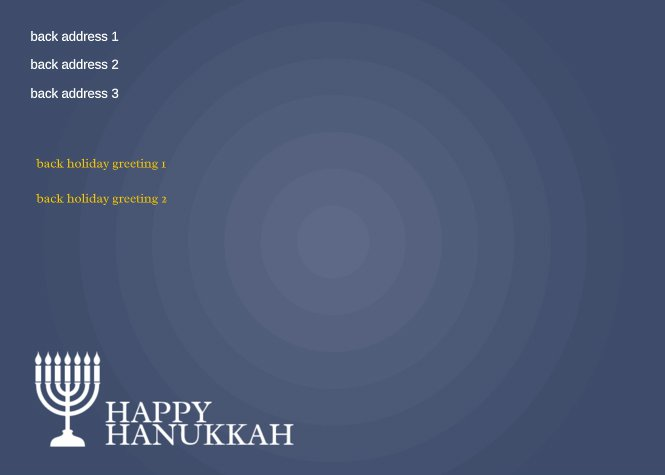 Happy Hanukkah Menorah Back thumbnail image