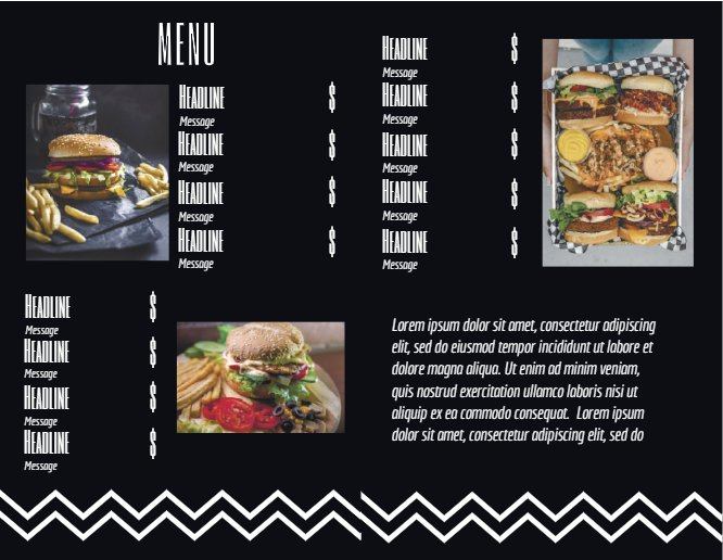 Burger Restaurant Menu Back thumbnail image