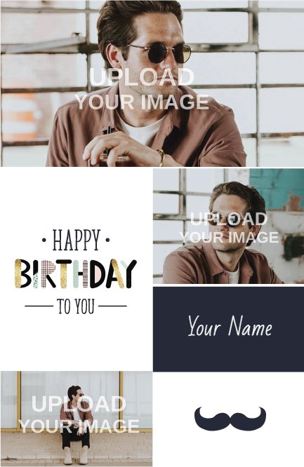 Dark blue birthday poster