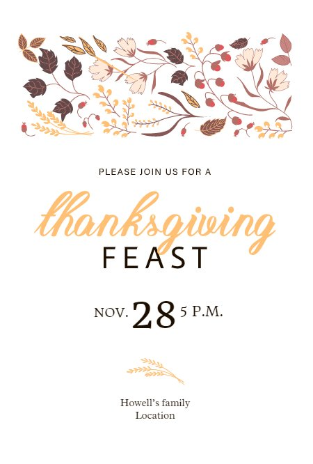 Thanksgiving Feast White Design