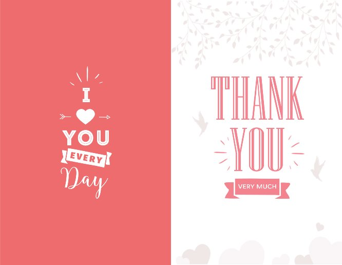 55 x 85 greeting card templates thank you very much valentine greeting card m4hsunfo