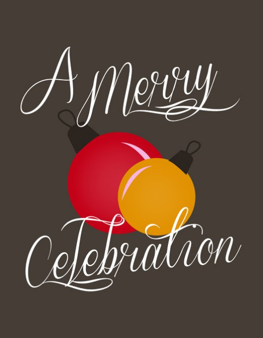 A Merry Celebration Christmas Invitation