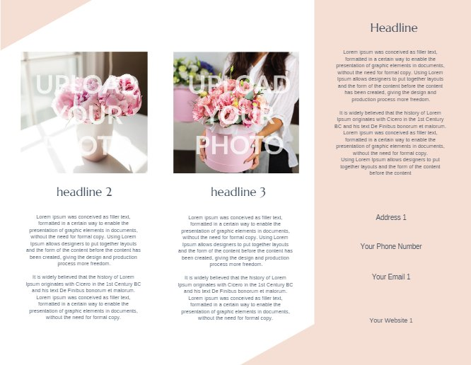 Wedding Brochure Peach Back thumbnail image