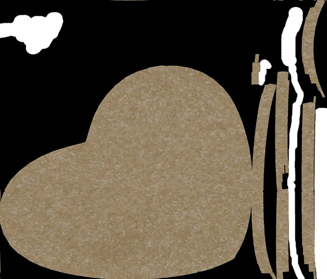 "Blank 3"" Heart Cookie Back thumbnail image"
