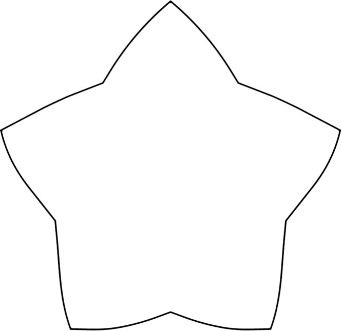 "Blank 3"" Star Cookie"