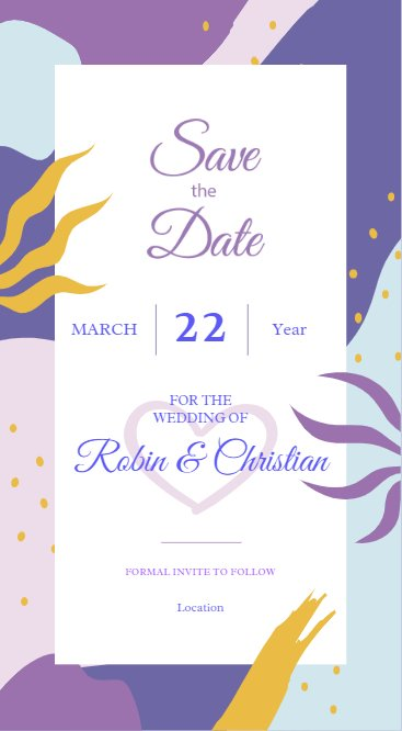 Abstract Save the Date
