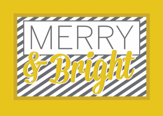Striped Merry and Bright