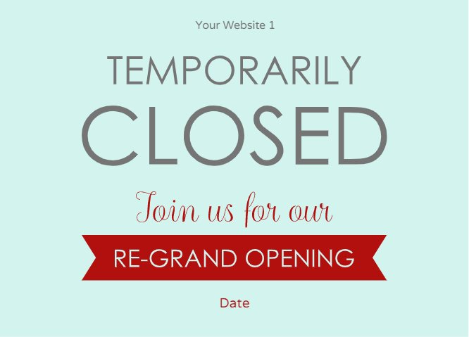 Temporarily closed turquoise